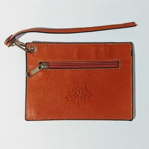 🧡 Vintage Mulberry Zip Pouch Pebbled